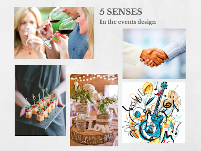 The role of the five senses in the event design
