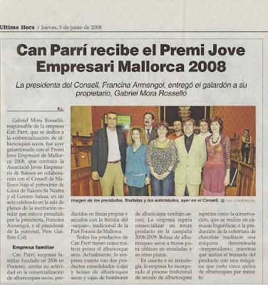 Pidelaluna, finalista del Premi Jove Empresari de Mallorca